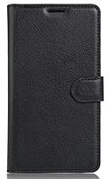 Кожаный чехол-книжка для Cubot Note S черный
