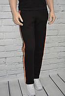 Спортивные брюки на флисе мужские черные прямые р.(M,L,XL,XXL) TM Valimark Украина