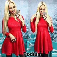 """Красивое женское мини-платье """"Шер"""" красный, 42-44"""