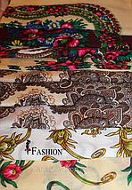 Украинский маленький бордовый платок Стефания, фото 3