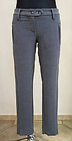 Стильные серые женские брюки классические (Италия)