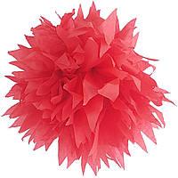 Помпон красный 35 см свадебный