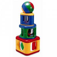 Разноцветная пирамида - погремушка с шариком Tolo!
