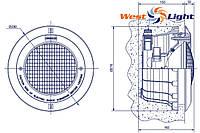 Светильник для бассейна 300ВТ 12 ВТ