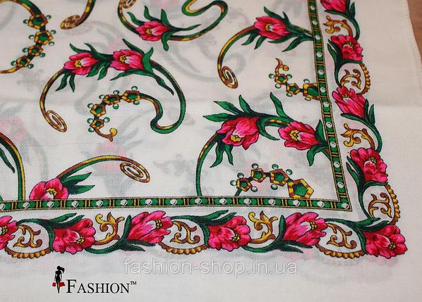 Украинский маленький белый платок Инга, фото 2