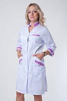 Коттоновый женский медицинский халат. Размер 40-60