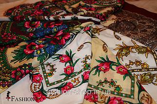 Украинский маленький белый платок Инга, фото 3