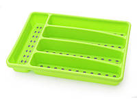 Лоток пластиковый для столовых приборов 32 х 22.5 х 4.5 см Fissman (CV-8860.CR)