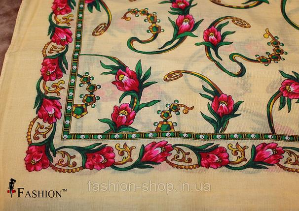 Украинский маленький кремовый платок Инга, фото 2