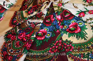Украинский маленький кремовый платок Инга, фото 3