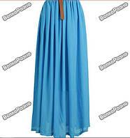 Яркая стильная женская шифоновая длинная юбка в пол.