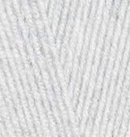 Пряжа Лана голд 800 Lanagold 800 Alize, № 684, пепельный меланж