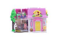 Кукольный дом с куклами батар.муз.свет.сумка 30*22*12 см