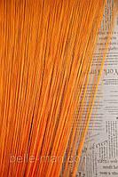 Однотонные шторы-нити №03 (оранжевый)