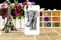 Чехол с рисунком для Huawei Y6 II (y6 2) Слон
