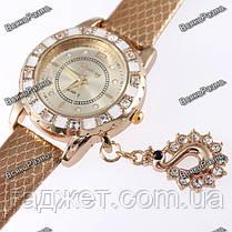 Стильные женские часы Kim Seng с подвеской в виде лебедя, фото 2
