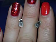Серебряные серьги гвоздики Замочки