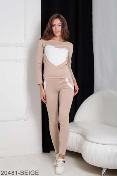 Женский спортивный костюм Williams 20481-BEIGE