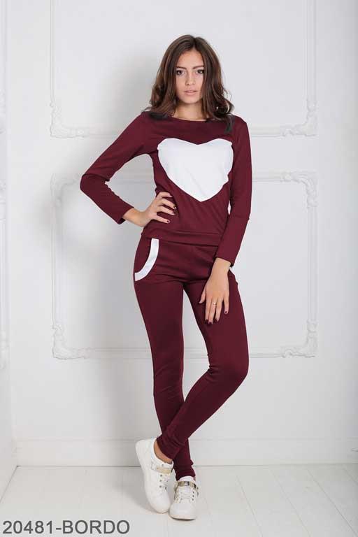 Женский спортивный костюм Williams 20481-BORDO