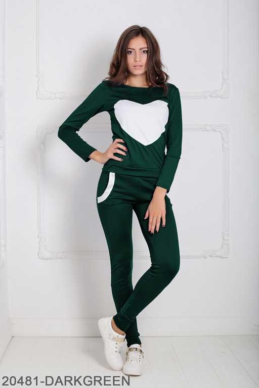 Женский спортивный костюм Williams 20481-DARKGREEN