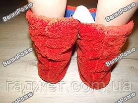 Махровые тапочки-сапожки для дома, фото 3