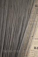 Однотонные шторы-нити №207 (темно-серый)