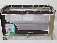 Кровать-манеж детский baby tilly ВТ-016SLC боковой лаз в комплекте с переносной сумкой