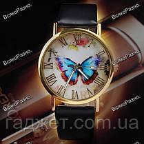 Женские часы с бабочкой черного, белого или коричневого цвета. УТОЧНЯЙТЕ ЦВЕТ, фото 3