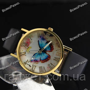 Женские часы с бабочкой черного цвета., фото 2