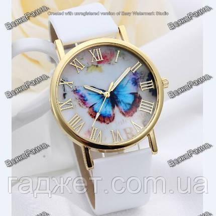 Женские часы с бабочкой белого цвета, фото 2