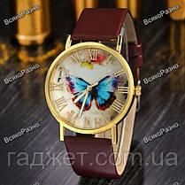 Женские часы с бабочкой коричневого цвета., фото 3