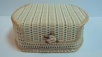 Шкатулка бамбуковая плетеная размер 1411*6