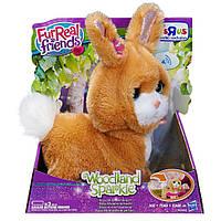 "Интерактивный кролик  Woodland Sparkle Bopsy, My Bouncin"" Bunny FurReal Friends, hasbro"