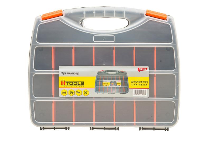 """Органайзер 21 отсек, 12.5"""" (320*260*50 мм). Изготовлен из ударопрочного пластика. HouseTools 79k126"""