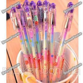 Ручка с разноцветным стержнем