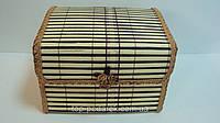 Шкатулка бамбуковая плетеная размер 17*13*11