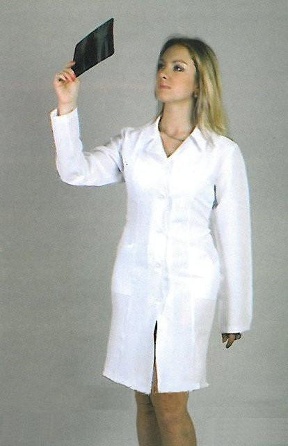 Классический медицинский халат с длинным рукавом