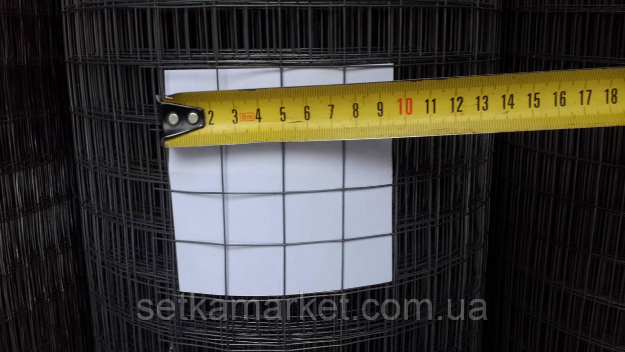 Сетка сварная черная, Ячейка 25х25 мм. Диаметр 0,9 мм.