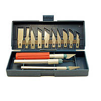 Набор ножей-скальпелей со сменными лезвиями (3 ножа и 13 лезвий)