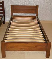 """Деревянная односпальная кровать """"Эконом"""" (190\200*80\90) массив - сосна, ольха"""