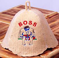 """Шапка для бани """"BOSS"""""""