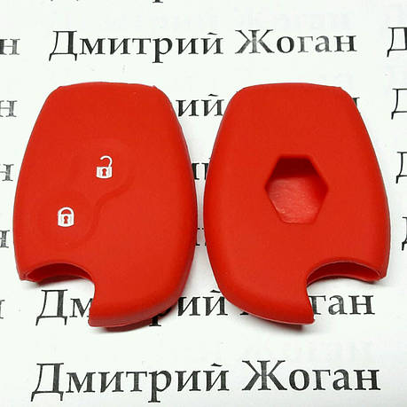 Чехол (красный, силиконовый) для авто ключа RENAULT (Рено) 2 кнопки, фото 2