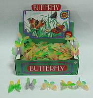 Животные резиновые бабочки светящиеся