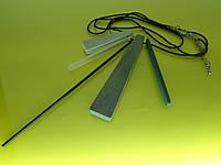 """Колье """"Верона - 2"""" с качественным покрытием, цепочкой и кулоном из дерева, пластика и металла."""