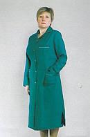 Длинный зеленый медицинский халат больших размеров