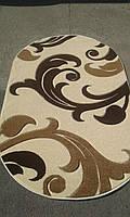 Рельефный ворсовый ковер Legenda 0313 кремовый