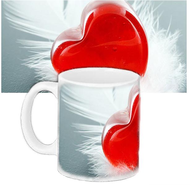 Кружка с принтом  для любимых - Сердце