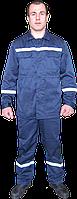 Костюм рабочий ИТР, спецодежда для дорожников, куртка и брюки из светоотражающей полосой