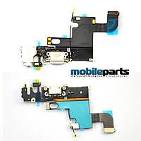Оригинальный Шлейф с Разъемом Зарядки, Микрофоном и Громкостью для iPhone 6S Plus (белый)