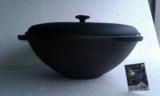 Казан-кастрюля чугунная, на 10 литров с чугунной крышкой, фото 1